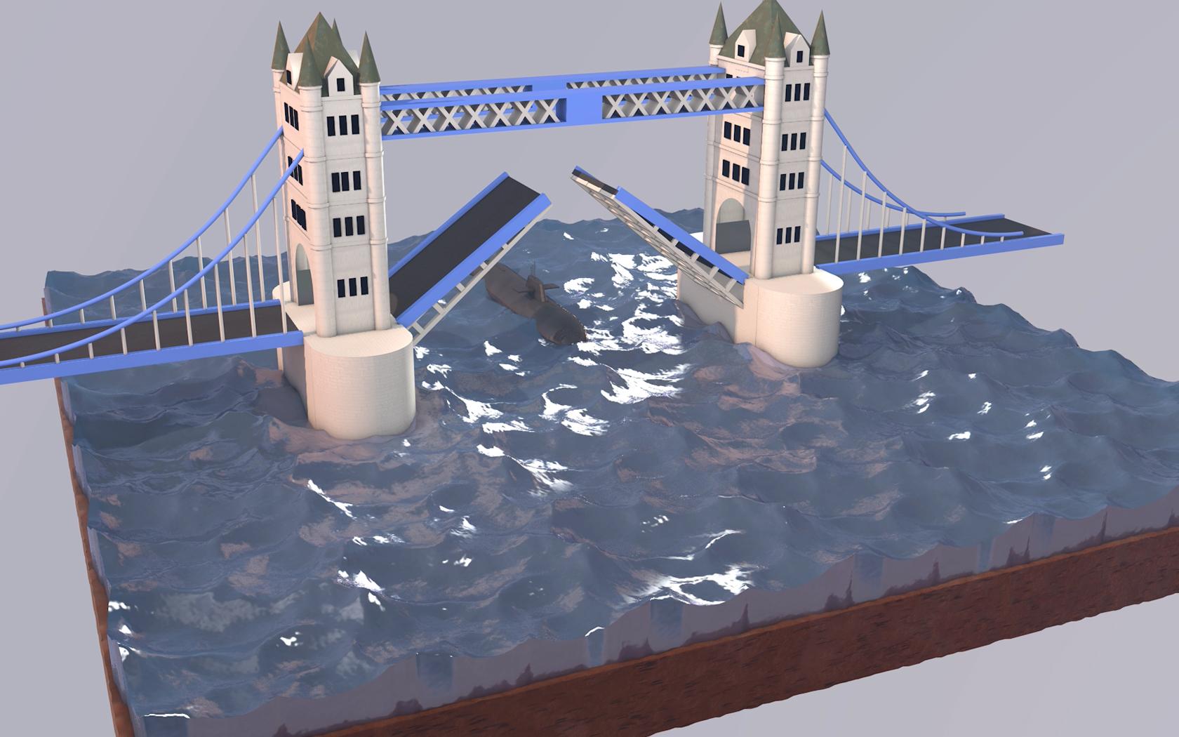 3D Animatie Tower Bridge