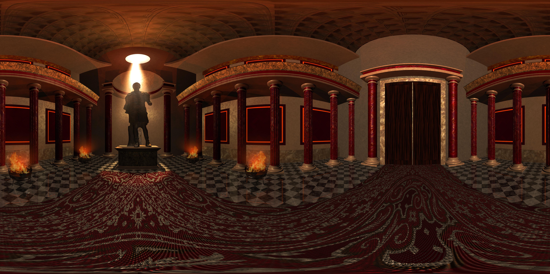 Panorama 3D ruimte tempel