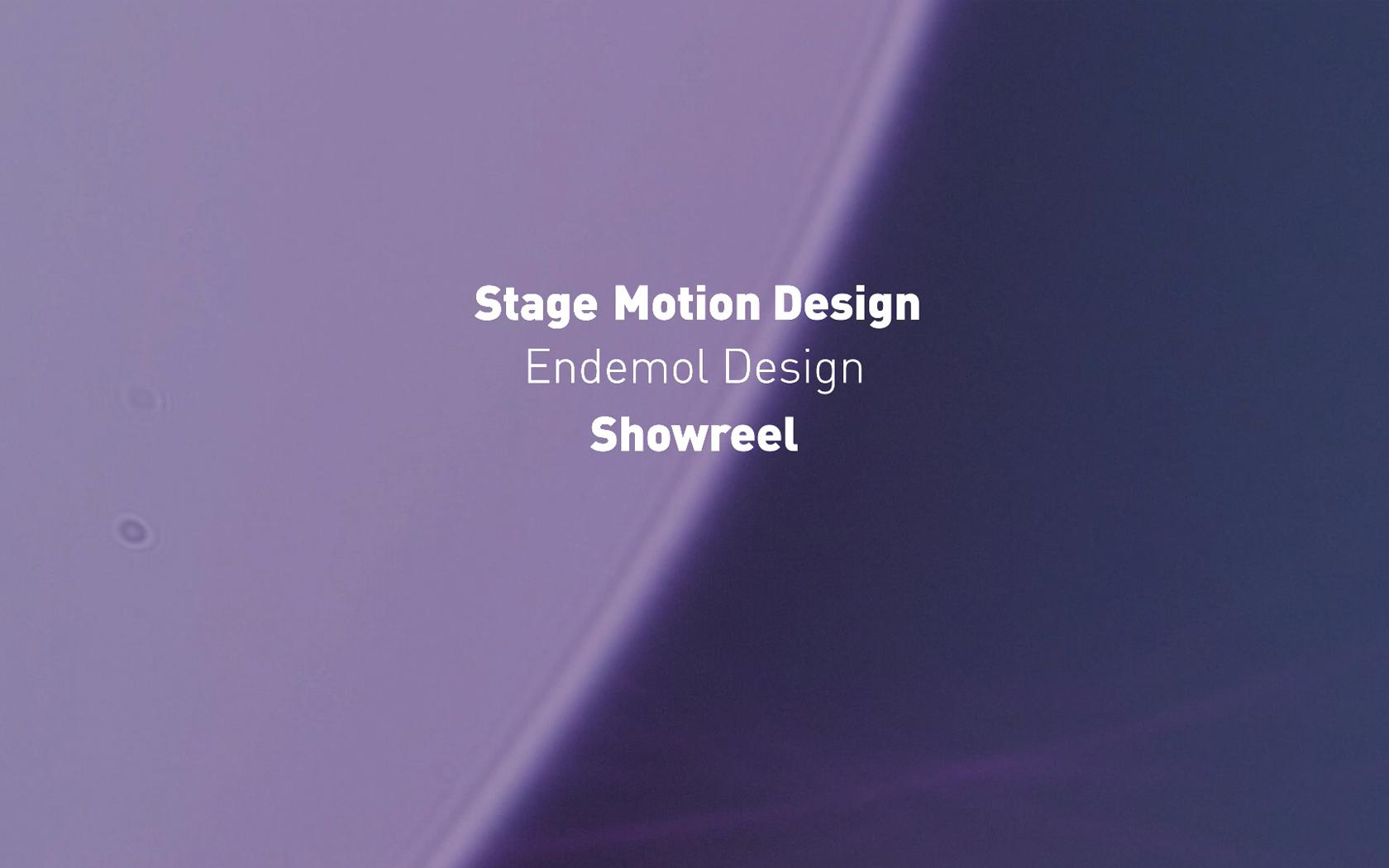 Showreel stage Motion Design - Endemol Design