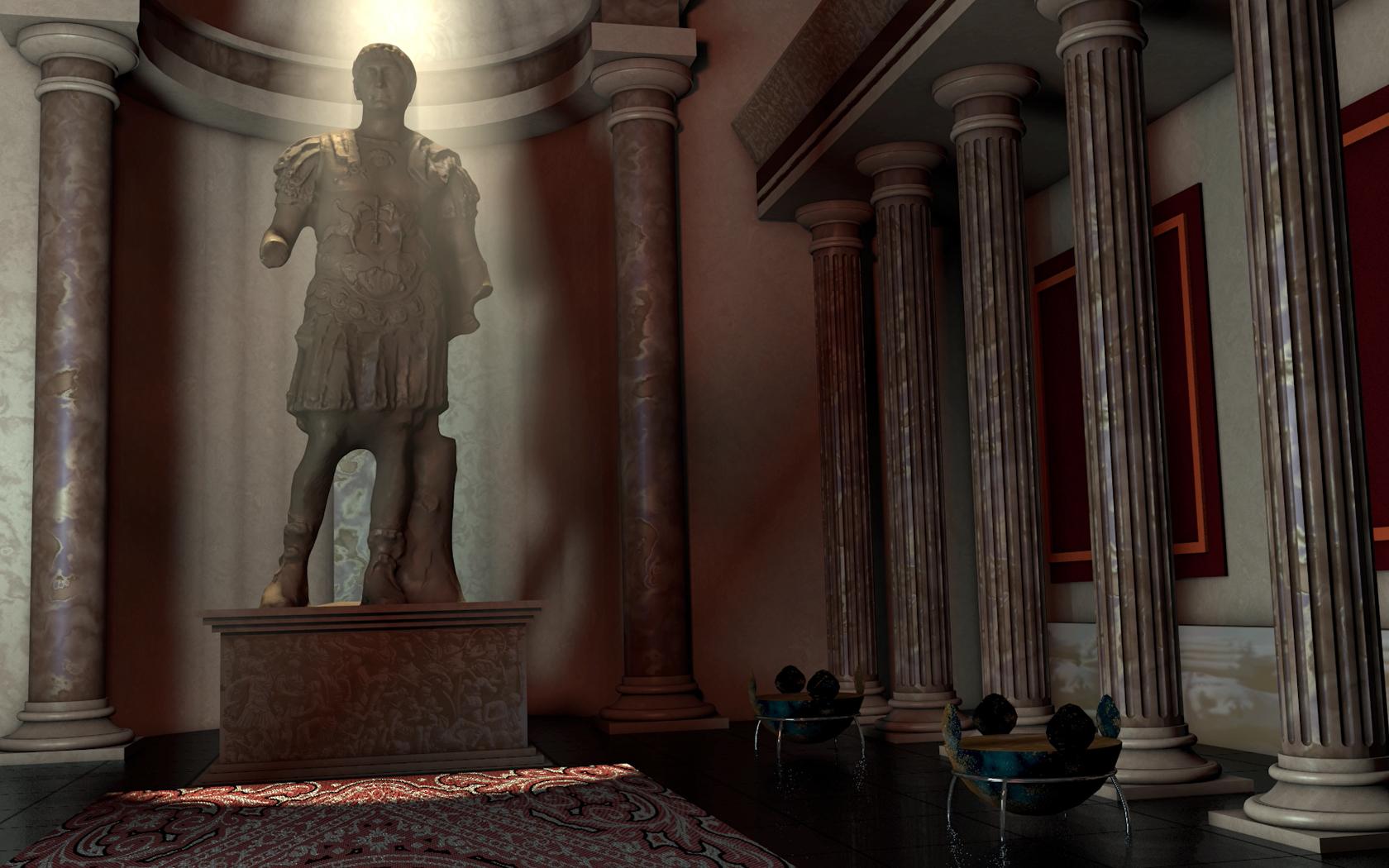 3D Project Romeinse tempel